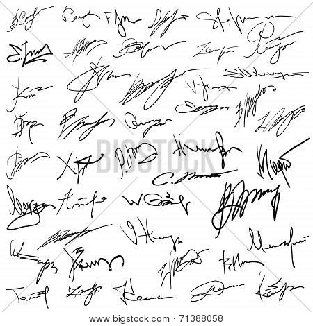 Set Of Autographs