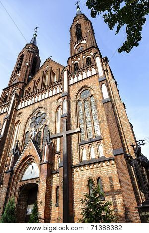 Neo-gothic Style Church In Sadowne In Poland