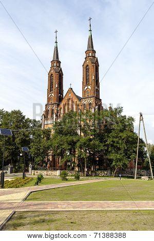 Neo-gothic Style Church In Sadowne, Poland
