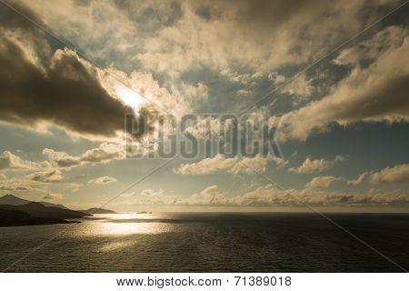 Evening Sun Over Ile Rousse In Corsica