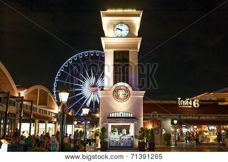 Asiatique riverfront night market in Bangkok, Thailand
