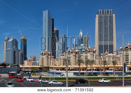 Typical Modern Skyscrapers And Houses In Dubai City I