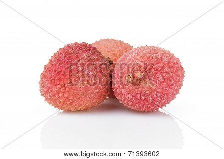 Ripe Asian Lychee Fruits