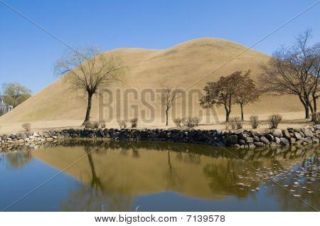 Reflected Korean Burial Mounds