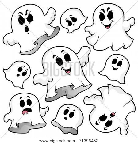 Ghost topic image 5 - eps10 vector illustration.