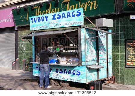 Tubby Isaac's seafood stall