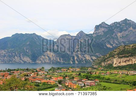 View From Above To Riva Del Garda, Italy