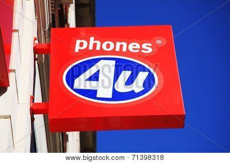 Phones 4U sign