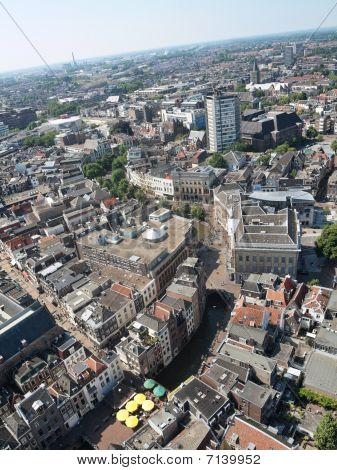 Areal Of The City Of Utrecht In The Netherlands