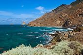 image of canary  - Coast at Taganana in Tenerife island  - JPG