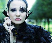 foto of evil queen  - Dark Queen in park - JPG