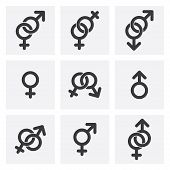 foto of hetero  - male female and gender symbols - JPG