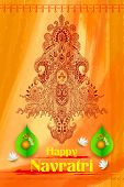 picture of goddess  - illustration of colorful Goddess Durga against abstract background - JPG
