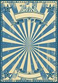 picture of circus tent  - Blue circus retro - JPG