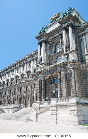 Hofburg Imperial Palace Entrance, View From Burggarten, Vienna Austria