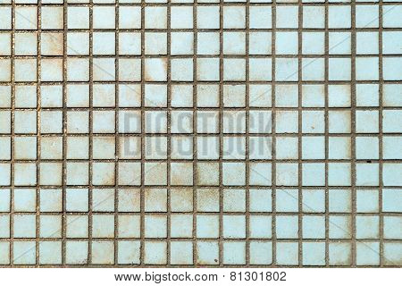 Old Little Tiles Which Have Stained