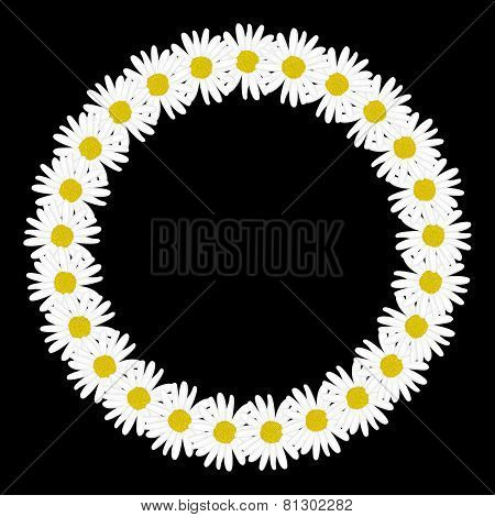 Daisy chain in the shape of a circle frame