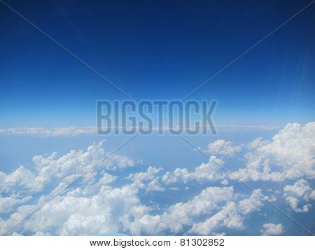 many clouds at the horizon