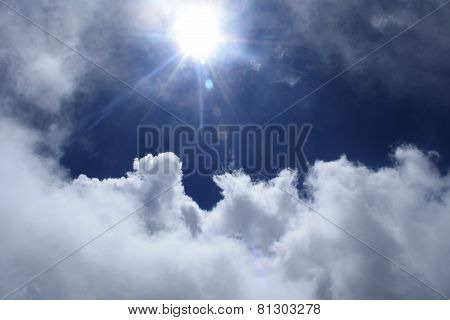sunlight trough the clouds