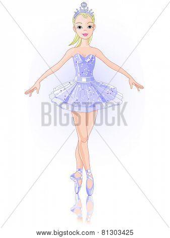 Illustration of beautiful ballerina