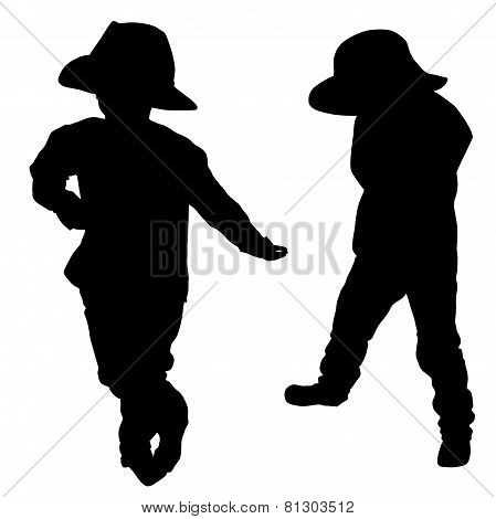 Silhouette Of A Little Boy