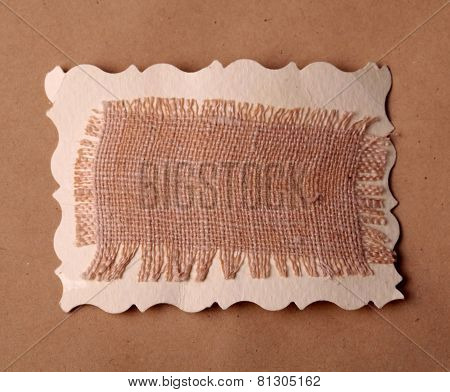 Mesh Texture On Brown Kraft Paper Background