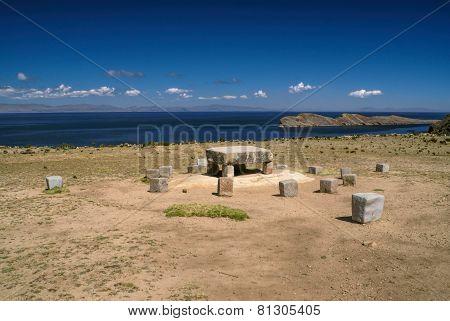 Ancient Stones On Isla Del Sol