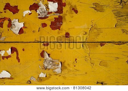 Yellow Old Wood Background