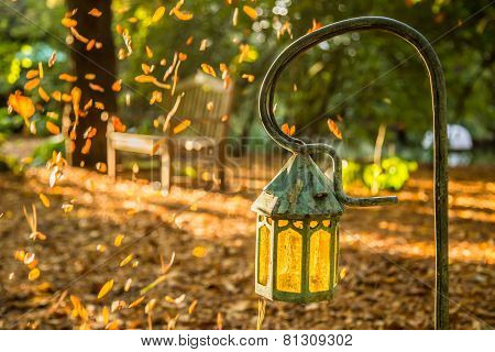 Lamp in the garden