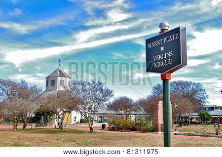 Vereins Kirche in Fredericksburg, Texas