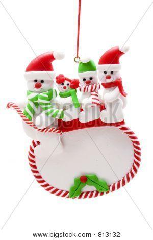 Familia de muñeco de nieve