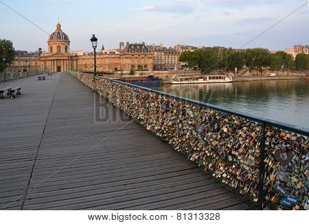 The Hundreds Of Thousands Of Locks On The Pont Des Arts Bridge, Paris France.