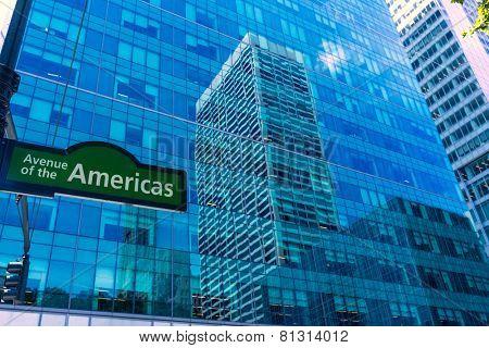 Manhattan New York city Sixth Avenue Las Americas 6th Av NYC US