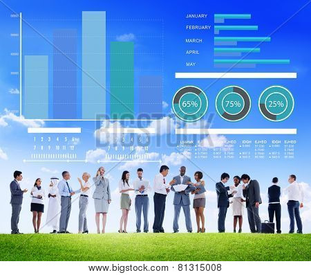 Ethnicity Business People Corporate Strategy Growth Discussion Concept