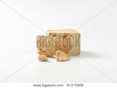 block of compressed fresh yeast