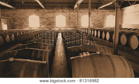 Sepia Historical Wine Cellar
