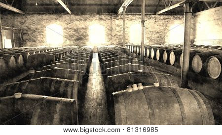 Aged Historical Wine Cellar