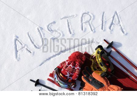 Austria Ski Background