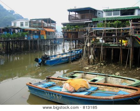 Fishing Village in Asia
