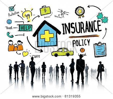 Diversity Business People Insurance Policy Working Concept
