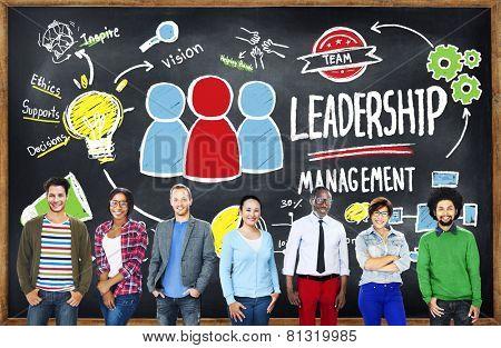 Diversity Casual People Leadership Management Variation Team Concept