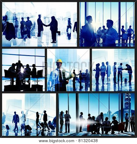 Business People Corporate Office Work Cityscape Concept