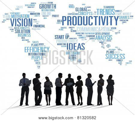 Productivity Mission Strategy Business World Vision Concept