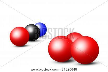Illustration of Snooker Balls on white background