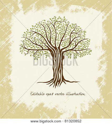 Vector tree - stylized abstract tree illustration