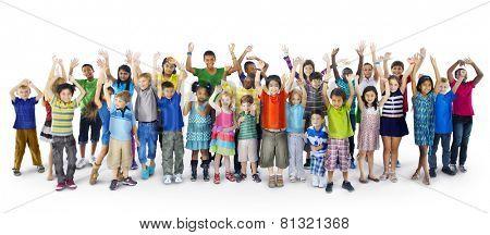 Children Kids Happiness Cheerful Childhood Celebration Concept