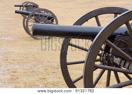 Bull Run Three Canons In Field
