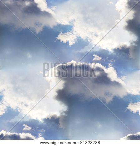 seamless cloud sky blue wallpaper texture