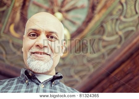 Senior Arabic Pakistani man portrait