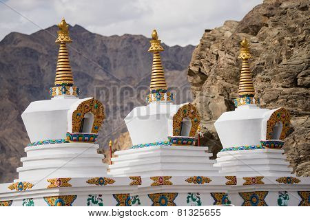 stupa at Shey Palace Leh Ladakh ,India